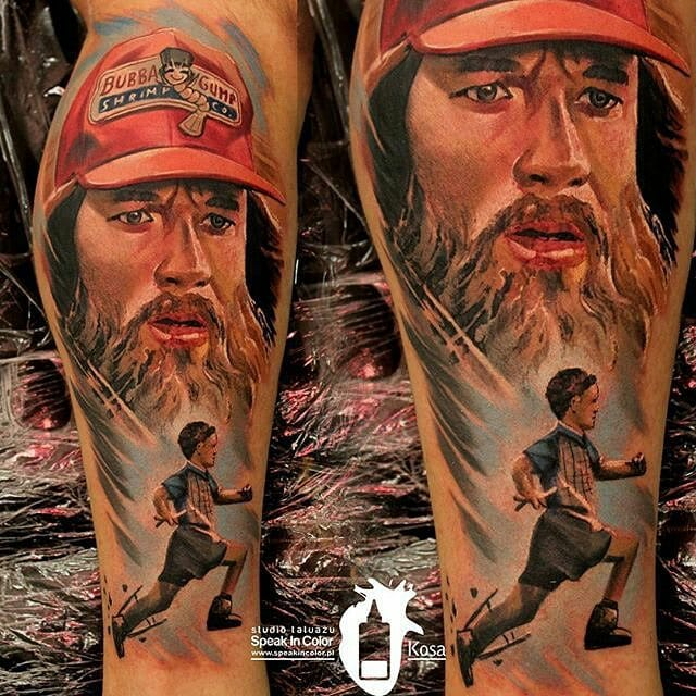 Awesome Forrest Gump Tattoo by Kosa