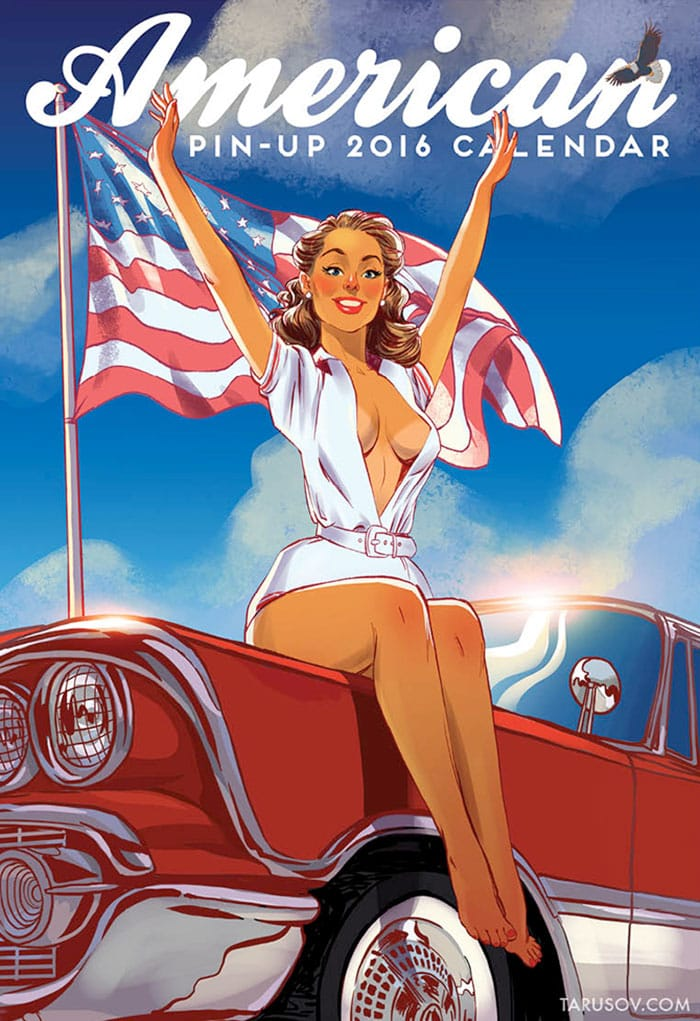 Start 2016 With This Classic American Girls Pin-Up Calendar
