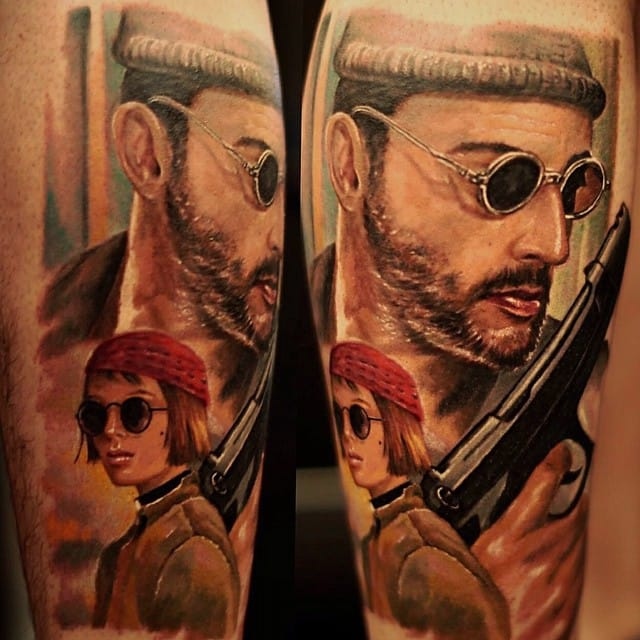 Cool Leon The Professional tattoo piece by Ivan Bor.