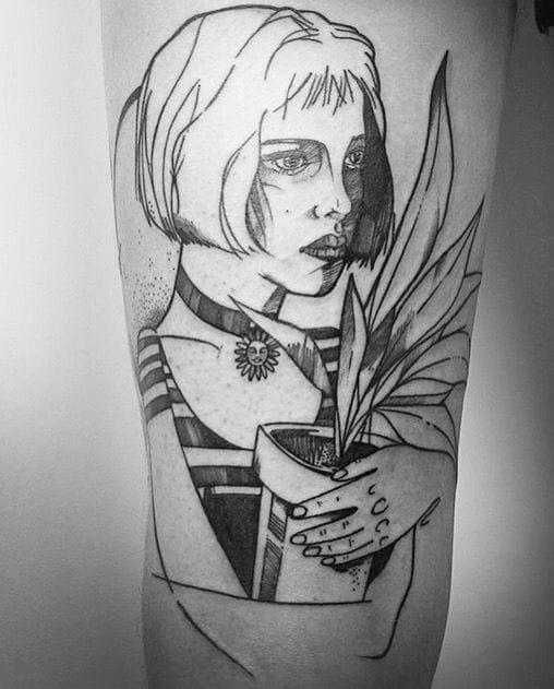 Sketch style by Maria Fernandez.