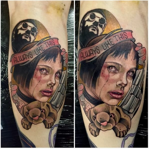 Gorgeous Leon The Professional tattoo by Neil Dransfield!
