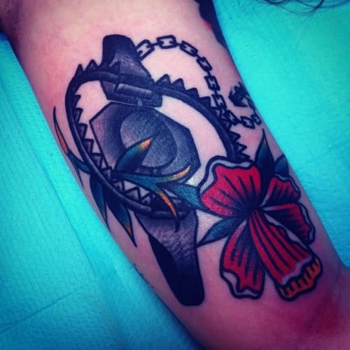 Bear Trap Tattoo by Josh Stephens