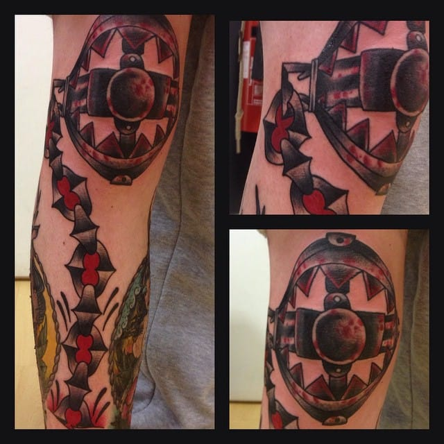 Bear Trap Tattoo by Robert Cresswell