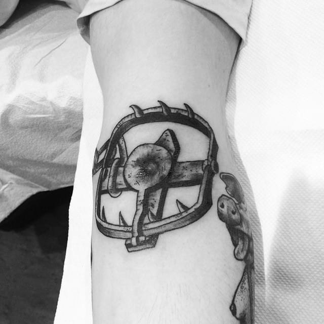 Bear Trap Tattoo by Tony Torvis