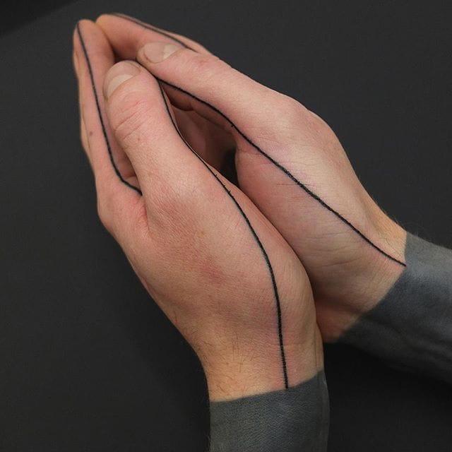 Hand seam tattoos