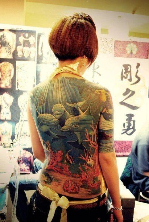 dolphin backpiece