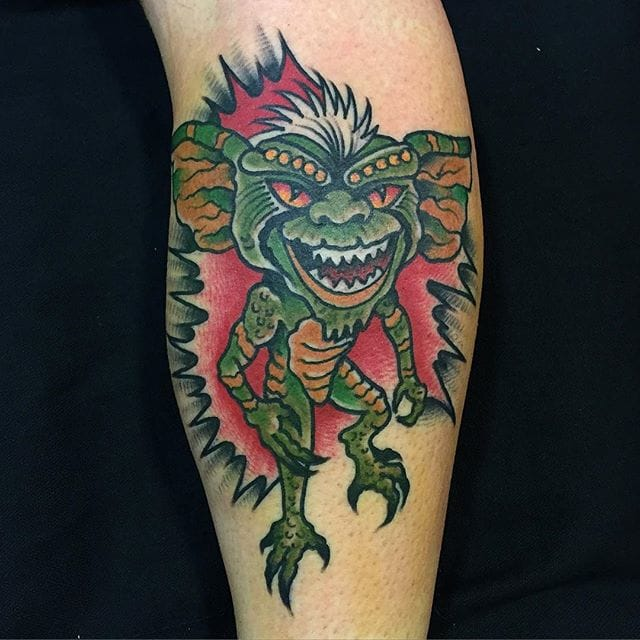 Old School Gremlin Tattoo by Dario Rivera