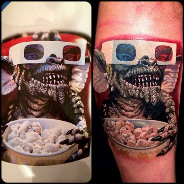 Brilliant Gremlin Tattoo by Kegan Hawkins