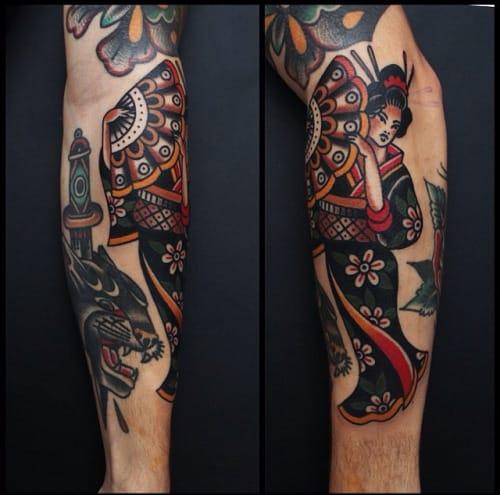 12 Beautiful Traditional Geisha Tattoos Tattoodo