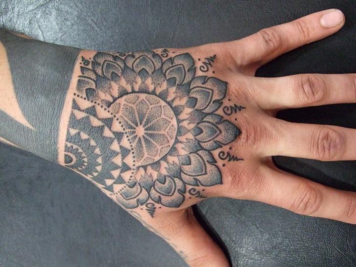 Dotwork Hand Tattoo by Holy Trauma