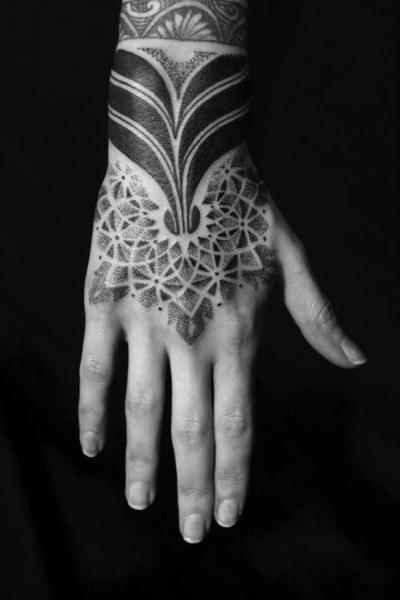 Dotwork Tribal Tattoo by Sakrosankt