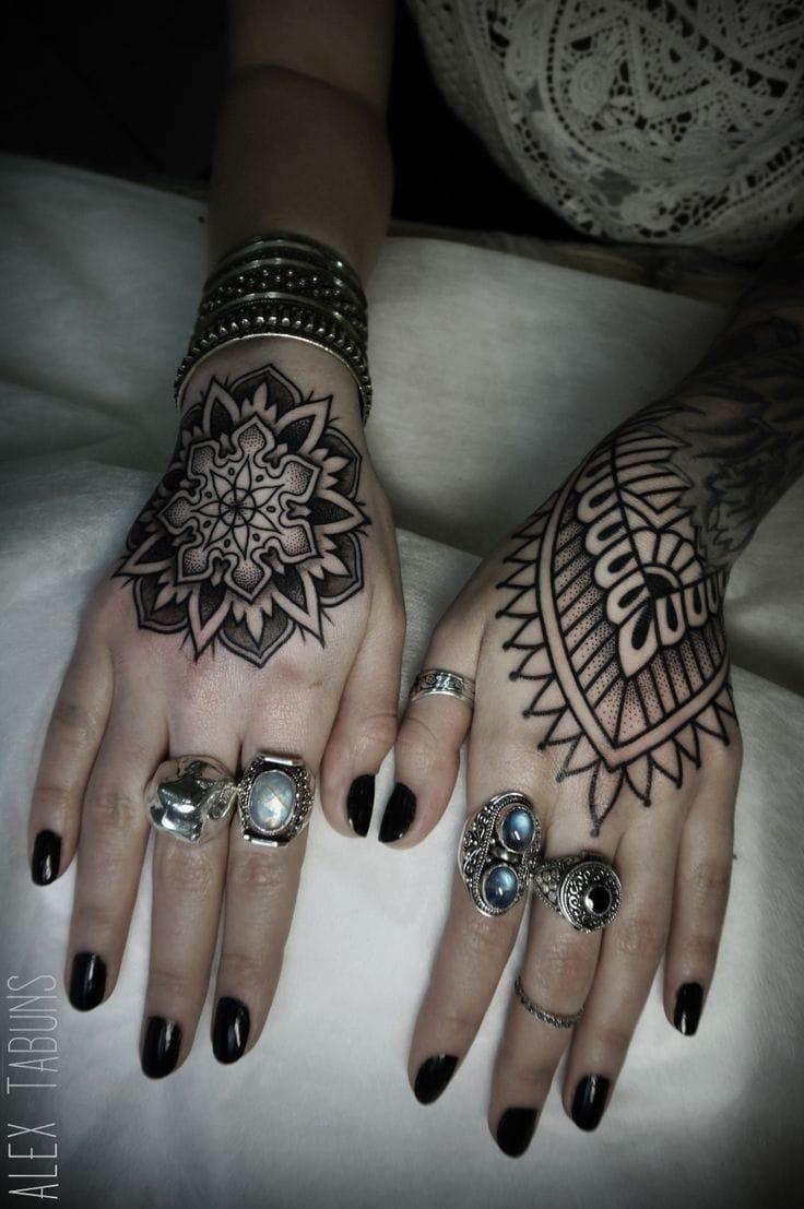 Hand Tattoo by Alex Tabuns