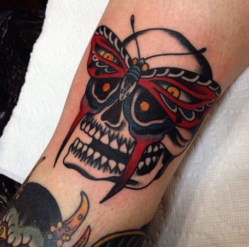 20 Creative Traditional Skull Tattoos