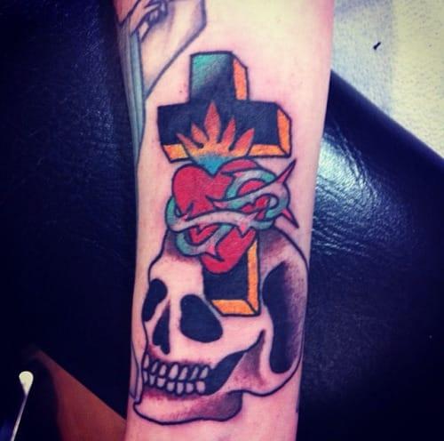 Skull Cross Tattoo by Walter McDonald