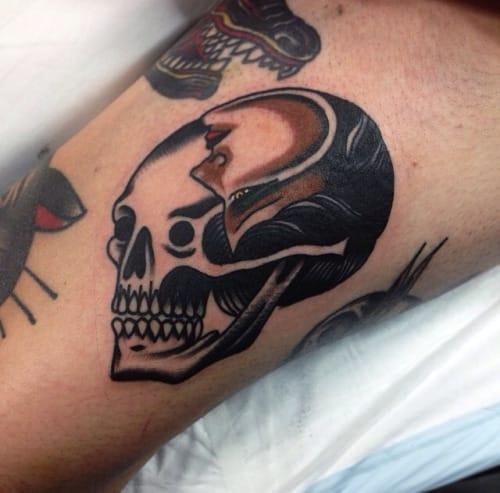 Creative Skull Face Tattoo by James McKenna