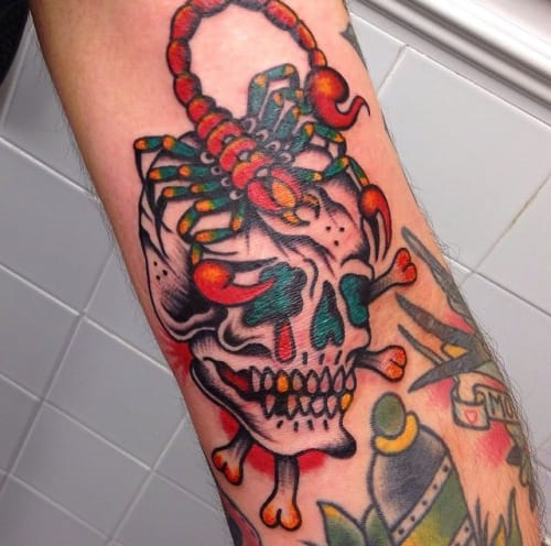 Skull Scorpion Tattoo by James Matthews