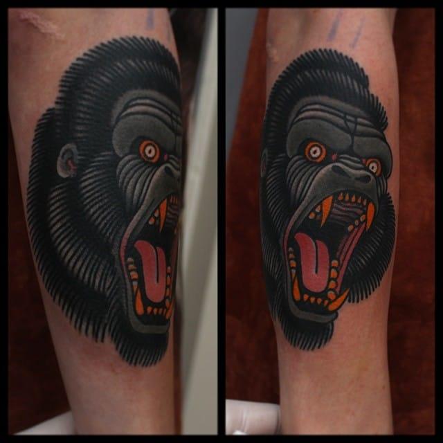 18 Eye-Catching Gorilla Head Tattoos