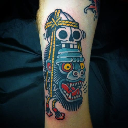 Gorilla Head Tattoo by Bueno