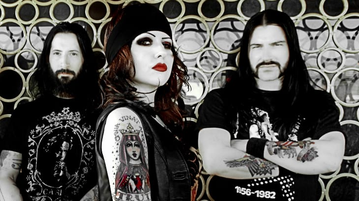Tairrie and husband Mick Murphy in their band My Ruin