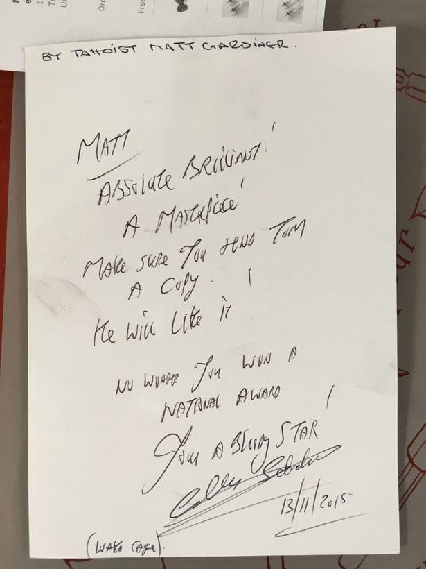 Bronson's Letter Of Approval!!