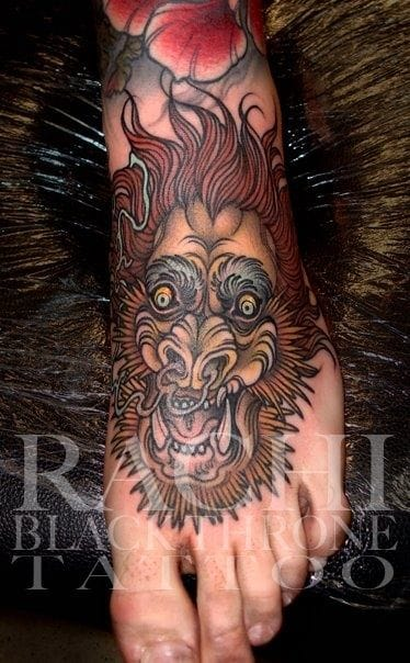 Dramatic Boar Tattoo by Rachi Brain