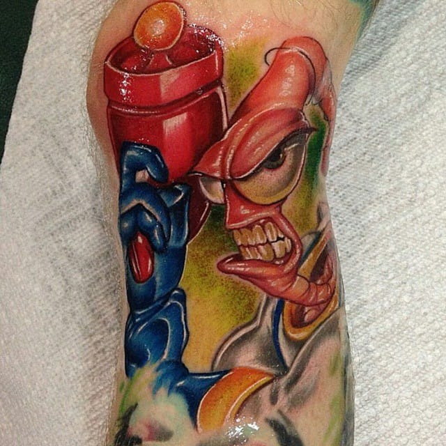Amazing colors that make Earthworm Jim look very fleshy and real...great work