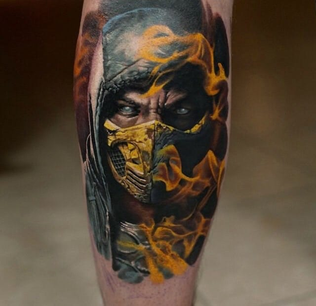 Get over here! This Scorpion tattoo has some killer details and creepy looking eyes.