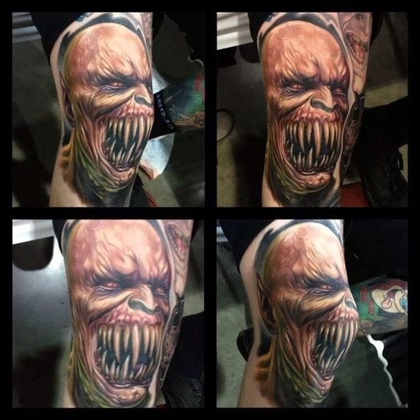 Baraka henchman to Shao Khan is a menacing halfbreed character with razor sharp teeth and retractable metal blades in his forearms...brutal