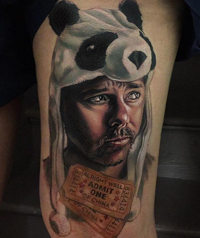 Karl Pilkington Tattoo by Kristian Kimonides
