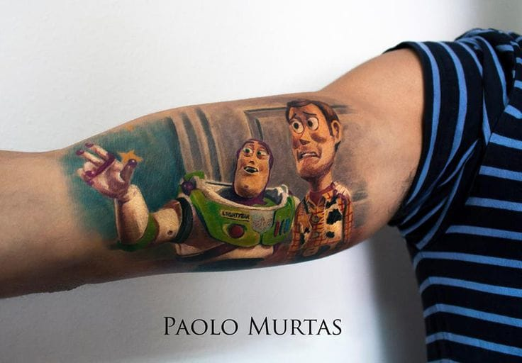Great Toy Story Tattoo by Paolo Murtas