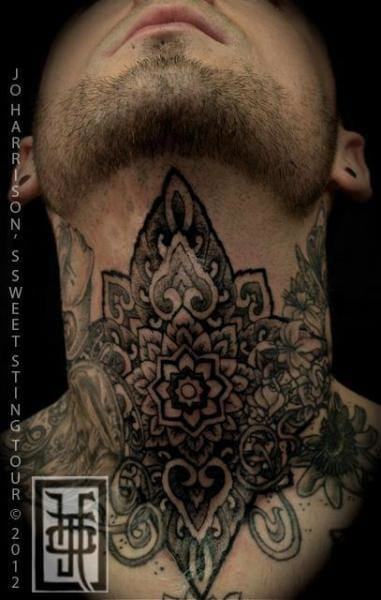 Dotwork Neck Tattoo by Jo Harrison