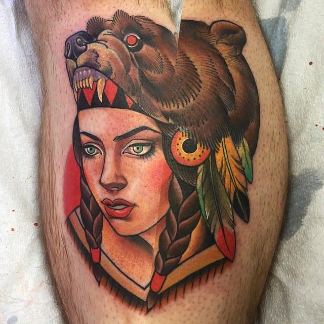15 Quality Bear Cowl Tattoos