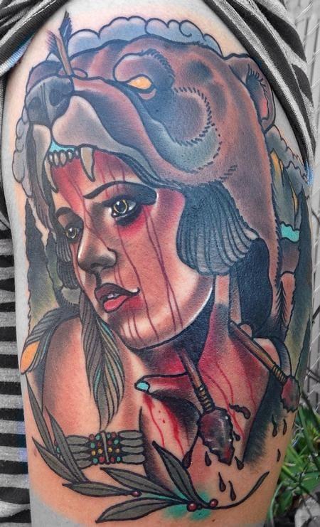 Bear Cowl Tattoo by Gary Dunn