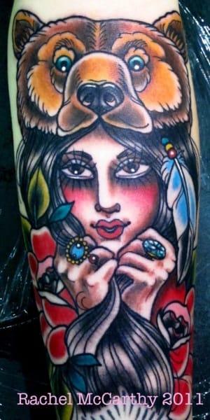 Bear Cowl Tattoo by Rachel McCarthy