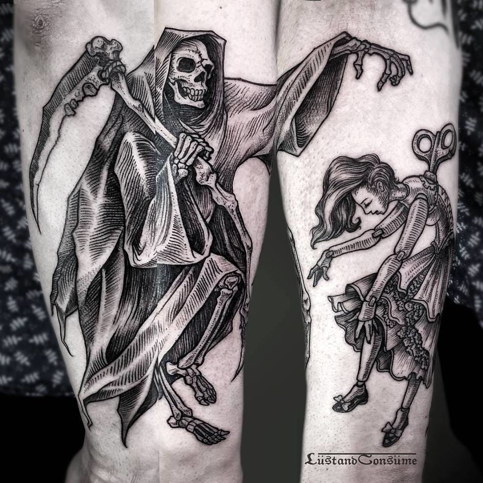 Grim Reaper Tattoo by Phil TwoRavens