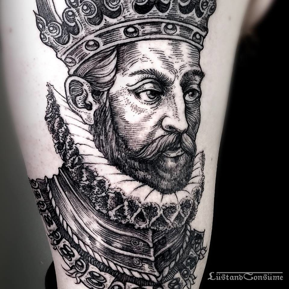 King Tattoo by Phil Tworavens
