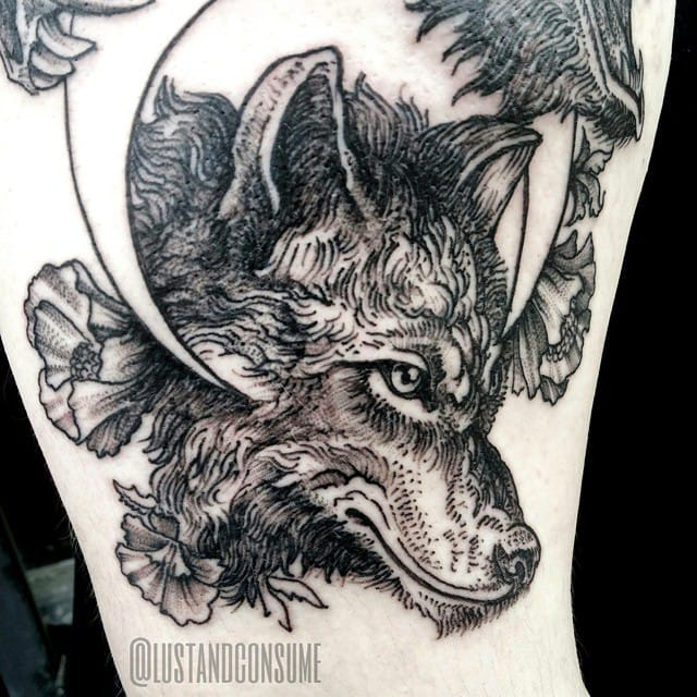Wolf Tattoo by Phil Tworavens