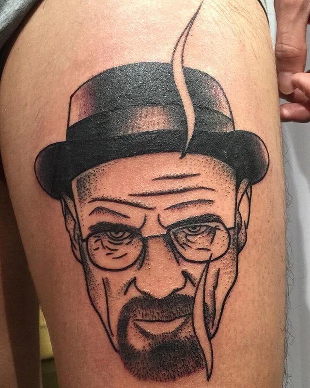 Intense Walter White Tattoo by Abril Ferrario