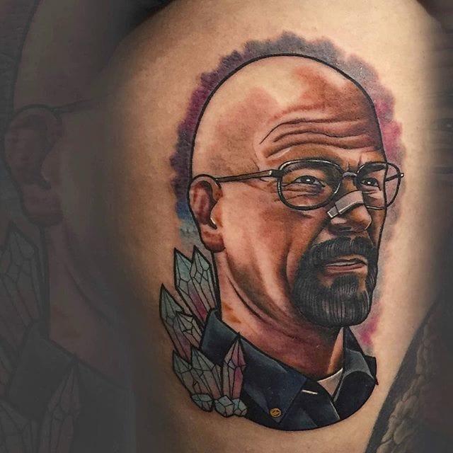Outstanding Walter White Tattoo by Italo Nanais