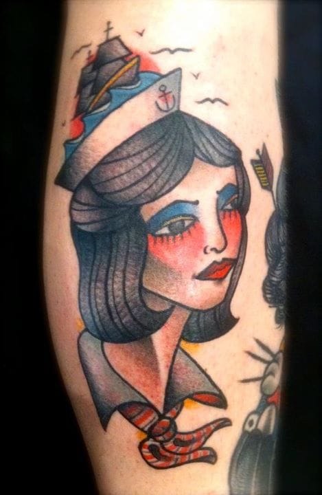 Sailor Girl Tattoo by Austin Maples