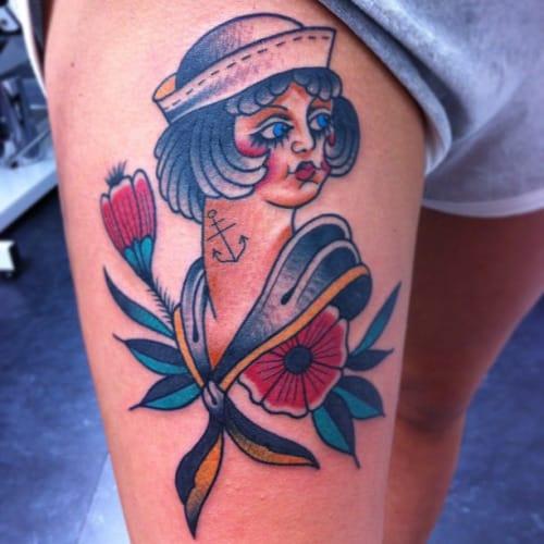 Sailor Girl Tattoo by Francesco Garbuggino