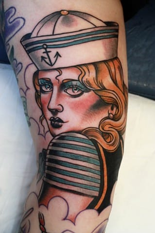 Sailor Woman Tattoo by Toby Gawler