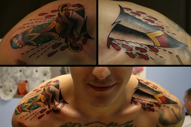 Through Neck Tattoo by Forever Tattoo