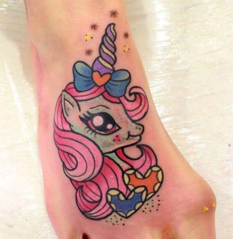 Pretty unicorn tattoo by Roxy Ryder, Wigan, UK. Photo from Instagram @roxyryder.