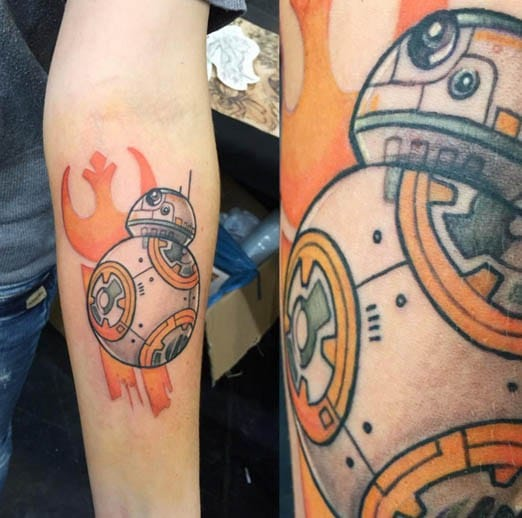 BB-8 Tattoo by Phil Gossner