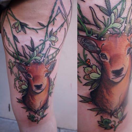 Stag Tattoo by Matt Lambdin