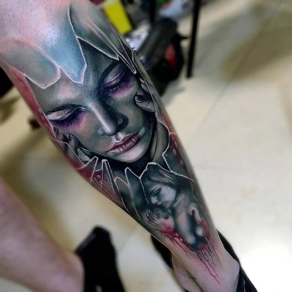 Another rad tattoo by Sam Barber...