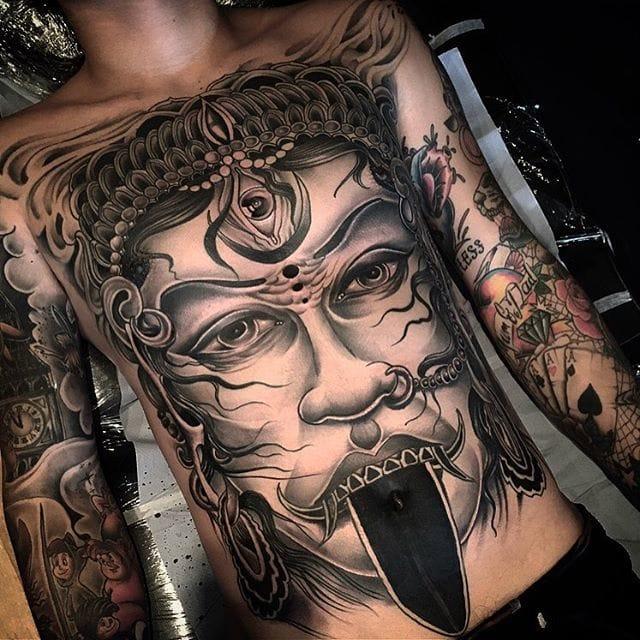 Kali tattoo by Dan Arietti.