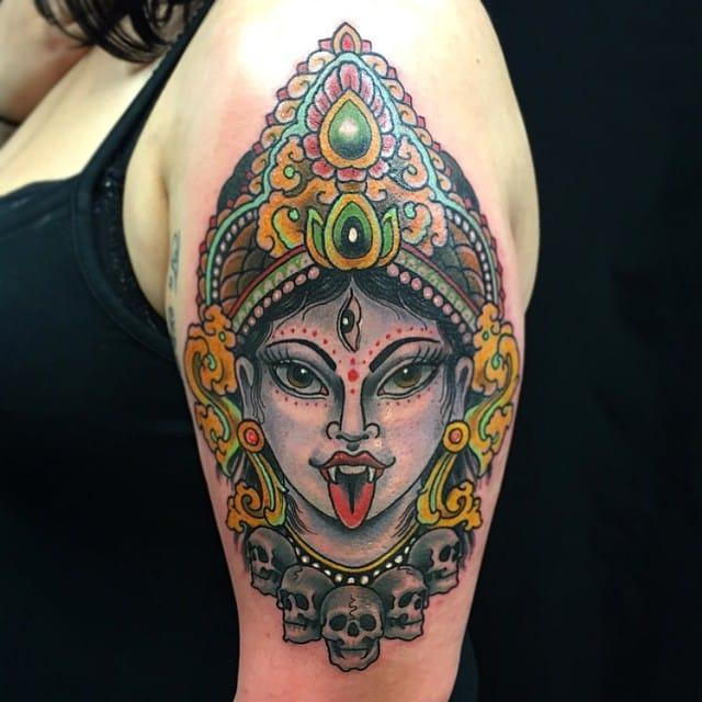 Kali tattoo By Elmo Teale.
