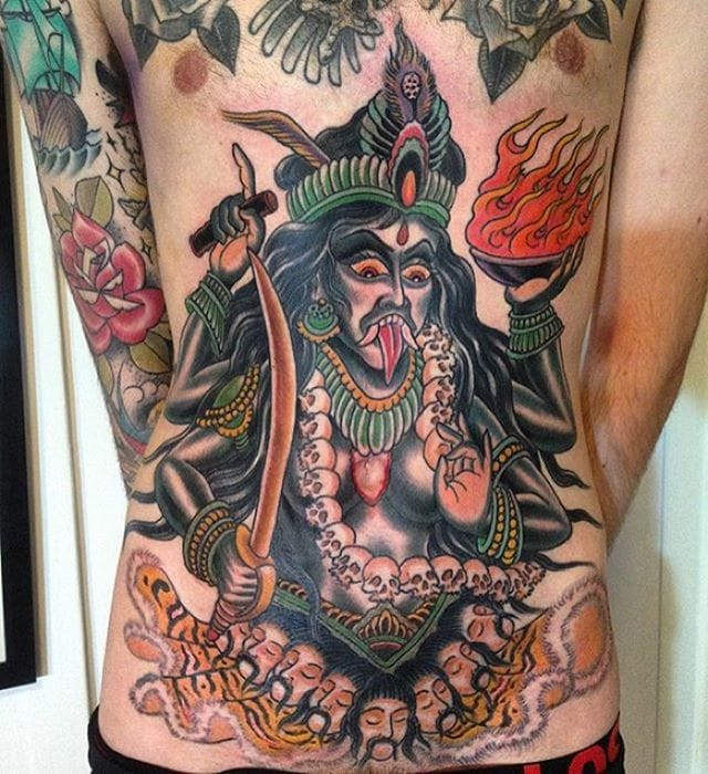 Kali tattoo By Marius Meyer.